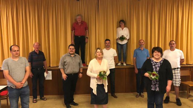 von links nach rechts: Peter Vormwald, Karl-Heinz Ebert, Marc Nötscher, Frank Duckstein, Ruth Steger, Heiko Münzer, Tanja Treml, Thomas Nischalke, Ruth Emrich, Thomas Damm